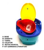 Troninho Infantil Musical c/ Redutor 3 X 1 Colorido Love -