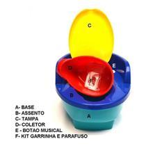 Troninho infantil musical com redutor 3 em 1 colorido - love -