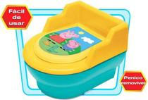 Troninho Infantil Penico Para Bebê Desfralde Vaso Sanitário Tampa Pinico Removível Peppa Pig Elka -