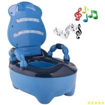 Troninho Musical Infantil Fazendinha Azul - Prime Baby -