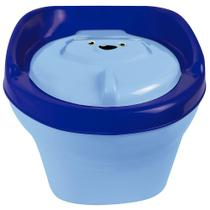 Troninho Musical Urso Infantil Pinico Para Bebe 2 Em 1 Azul - Styll Baby -
