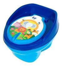 Troninho Pinico Comum Infantil Bichinho Azul Bic e Azul Bebê - Styll