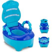 Troninho Pinico Infantil Fazendinha Musical Azul - Prime Baby