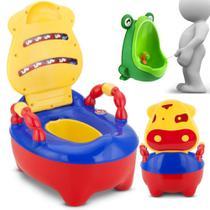 Troninho Pinico Infantil Fazendinha Musical Colorido + Mictó - Prime Baby