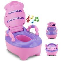Troninho Pinico Infantil Fazendinha Musical Rosa - Prime Baby