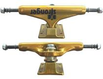 Truck De Skate Stronger 139mm Gold Com Parafuso Central Vazado -