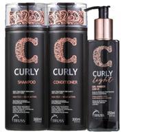 Truss Curly - Shampoo + Condicionador + Curly Light -