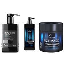 Truss Kit Infusion 650ml + Shampoo Bidimensonal 1L +  Net Mask 450g - Senscience
