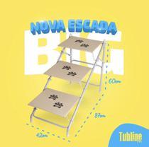 Tubline Escada BIG até 40 kilos Para Cães Cachorro Dobravel Pet cor Bege 7705-N17 -