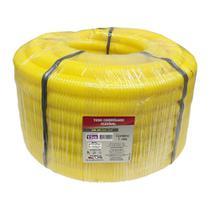 Tubo Corrugado Flexível 3/4 Dn 25 Rolo com 15m Amarelo Force Line -