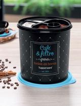 Tupperware caixa café e filtro bistrô -