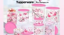 Tupperware Instantaneas de armazenamento 9 pecas ( garsa Rosa) -