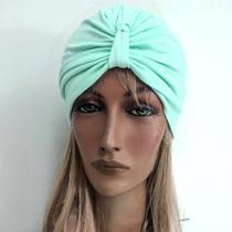TURBANTE Tecido Cotton cor Verde Soft - Bella Hair