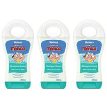 Turma da Mônica Shampoo Infantil Suave 200ml (Kit C/03) -