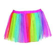 Tutu Arco íris 3 Camadas 30 cm - Bazar