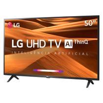 TV 50'' LG 50UM7360 - Smart TV - Ultra HD 4K - HDR Ativo - Inteligência Artificial ThinQ - WebOS 4.5 -