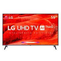 TV 55'' LG 55UM7520 - Smart TV - Ultra HD 4K - HDR Ativo - Inteligência Artificial ThinQ - WebOS 4.5 -