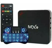 TV Bo-x Mx 9 4K Smart Android 10.1 Ultra Hd com Teclado de Led - America