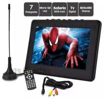 Tv Digital Portatil Lcd 7 Polegadas Tela Monitor Tomate Usb -