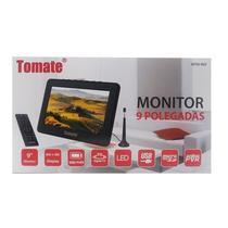 Tv Digital Portátil Led Monitor 9 Pol Micro Sd Com Antena Mtm-909 - TOMATE