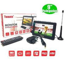 Tv Digital Portátil Led Monitor Hd 9 Polegadas Usb Sd Tomate MTM-909