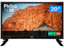 "TV LED 20"" Philco PH20M91D - Conversor Digital 1 HDMI 1 USB"