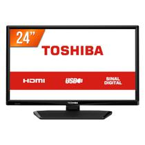 TV LED 24 HD Toshiba L1700 1 HDMI 1 USB Conversor Digital