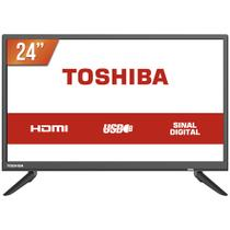TV LED 24 HD Toshiba L1850 2 HDMI USB Conversor Digital