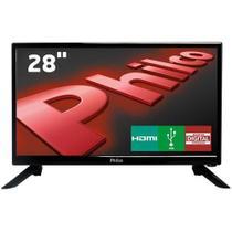 """TV LED 28"""" HD Philco PH28N91D com Conversor Digital Integrado, Som Surround, DNR, Entrada HDMI e USB -"""