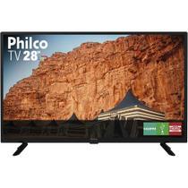 """TV LED 28"""" Philco PTV28G50D HD Conversor Digital Integrado 1 USB 2 HDMI Recepção Digital - Britania"""