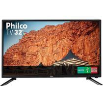 """TV LED 32"""" Philco PTV32F10D Conversor Digital HD 2 HDMI 1 USB Preta - Casa & Video"""