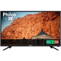 TV LED 39 Pol Philco PTV39N91D HD com Conversor Digital 2 HDMI 2 USB Som Surround 60Hz Preta - Bivol