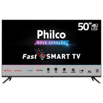 Tv Led 50 Polegadas Philco Smart Tv Ultra HD 4K Tela Infinita Quadcore e App Store Netflix