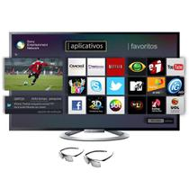 """TV LED 55"""" Sony KDL-55W805B Smart TV / 3D / Full HD / Wi-fi / 4 HDMI / 2 USB / Conversor Digital - Acompanha 2 Óculos 3D -"""