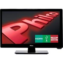 "TV LED Philco 16"" HD H16D10D, HDMI, USB, Conversor Digital - Preto -"