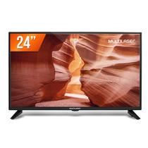 "TV Monitor LED 24"" HD Multilaser TL016 Conversor Digital HDMI USB -"