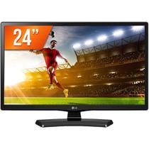 "TV Monitor LED 24"" LG HD HDMI Conversor Digital 24MT49DF -"