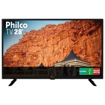 TV Philco 28 Polegadas LED HD PTV28G50D com Conversor Digital Integrado Preta Bivolt -