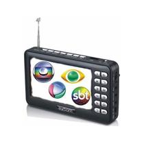 Tv portatil digital isdbt mini com conversor integrado usb sd e bateria recarregavel bivolt - Gimp