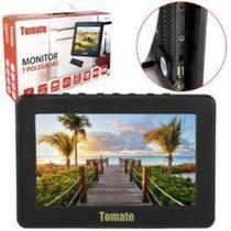 TV Portatil LED Monitor TV Digital 7 POL Micro SD com ANTENA7 MTM-707 Tomate -