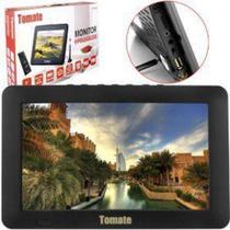 TV Portatil LED Monitor TV Digital 9 POL Micro SD com Antena MTM-909 Tomate -