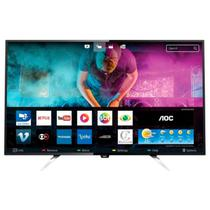 TV Smart 50 Polegadas Aoc Led Smart 4k Wifi / Usb / Hdmi Le50u7970s / Preta -