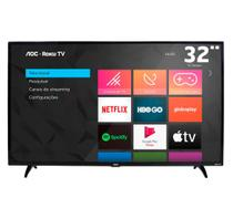 "TV Smart LED 32"" AOC Roku Mobile, Wi-fi / HDMI / USB 32S5195/78 -"