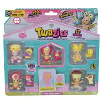 Twozies Blister Kit com 12 Personagens - Série 3 - Molly e Trolly - DTC -