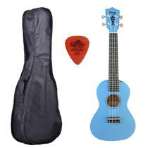 Ukulele Azul Claro Seven Concert  Suk-23 LB C/ Capa - Seven Guitars