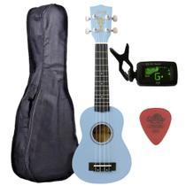 Ukulele Azul Seven Soprano Suk-07 LB + Capa e Afinador - Seven Guitars