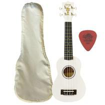 Ukulele Branco Seven Soprano Suk-07 Wh + Capa - Seven Guitars