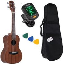 Ukulele Concert Acústico 23k Tagima Natural Kit Completo -