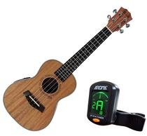 Ukulele Concert Barth Guitars Eletrico+afinador Aroma - Barth Ukulele