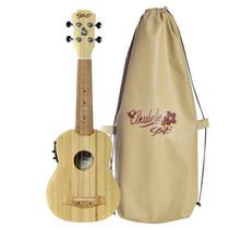 Ukulele Elétrico Seizi Bamboo Bali Soprano Solid -